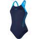speedo Boom Splice Muscleback Swimsuit Women blue